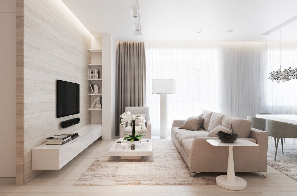 chic beige and wood interior | Living room designs ...