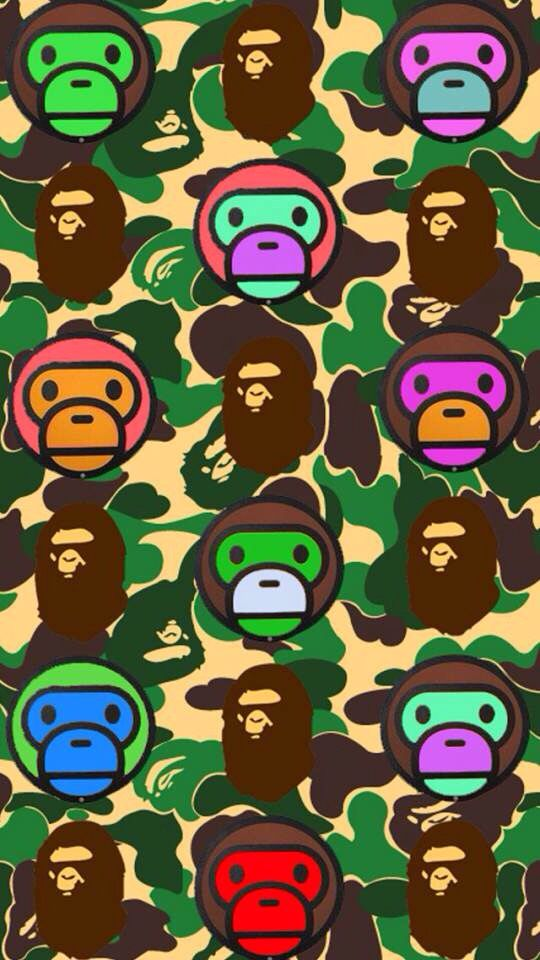 Bape camo background Fashion Pinterest