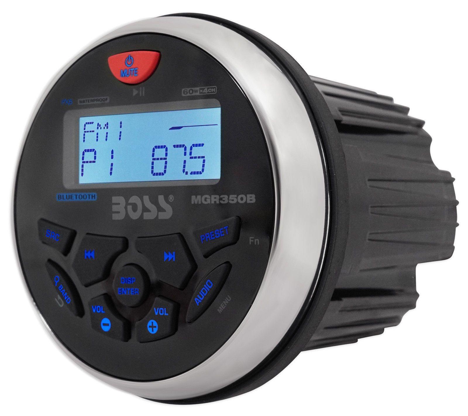 Boss Audio MGR350B MP3//AM//FM//RDS Bluetooth Marine Gauge Style Radio Receiver