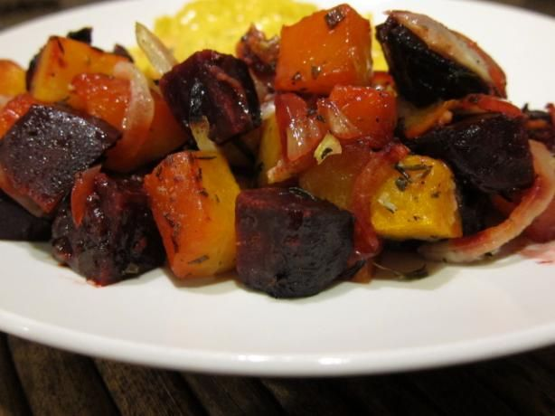 Rosemary Roasted Butternut Squash And Beets With Garlic Recipe
