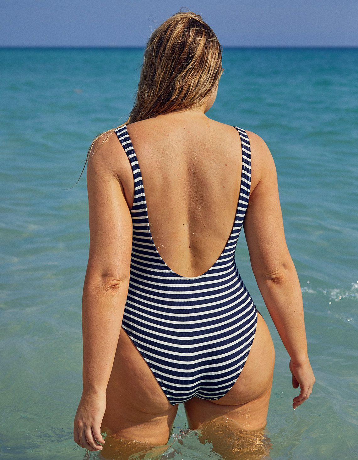 a296afbe11c Aerie Lace-Up One Piece Swimsuit, Navy in 2019 | Summer | One Piece ...