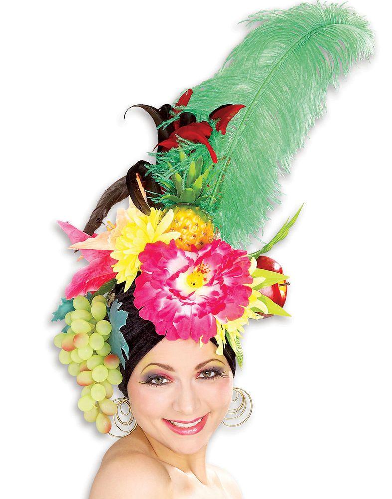 Carmen Miranda Multi Color Tropical Chiquita Banana Fruit Hat