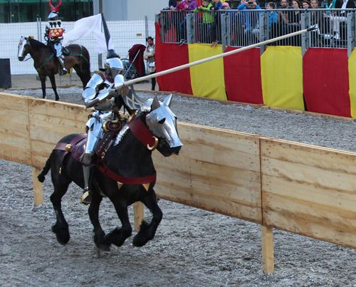 Toby Capwell jousts at the Grand Tournament at Schaffhausen 2014 (photo from The Wallace Collection) The Jousting Life