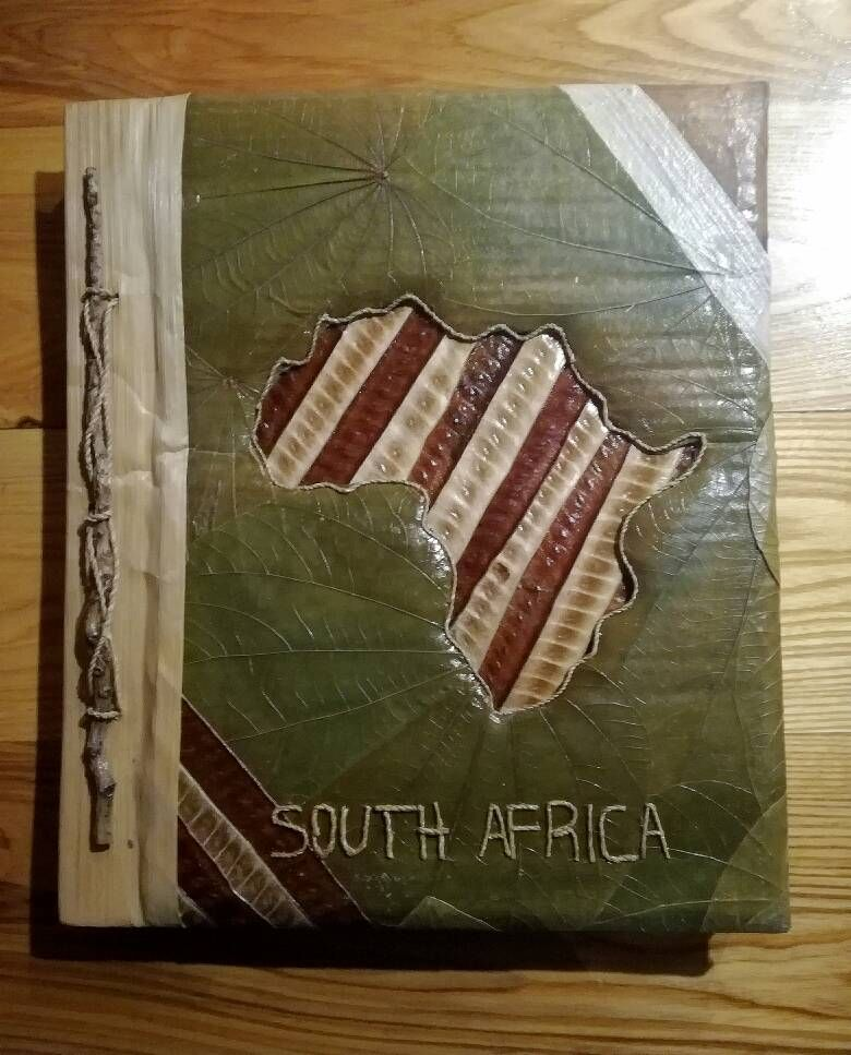 Dried Leaves Travel Photo Album Unique Christmas Gift From Cape