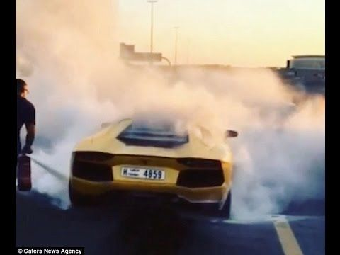 Attractive Lamborghini Aventador Reduced To Ashes After Engine Fire   Alt_driver