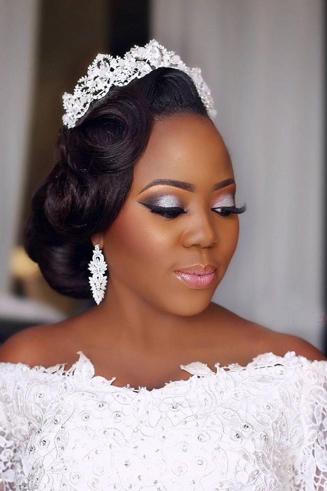 42 Black Women Wedding Hairstyles Coiffure mariage