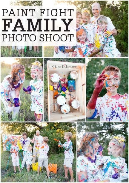 Build Your Own Treehouse | Family painting, Paint fight, Fun family photos