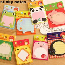1 unids Post it de dibujos animados animales Sticky Notes Pads lindo de la nota pegatinas de papel Notepad papelería Kawaii Papeleria útiles escolares notas(China (Mainland))