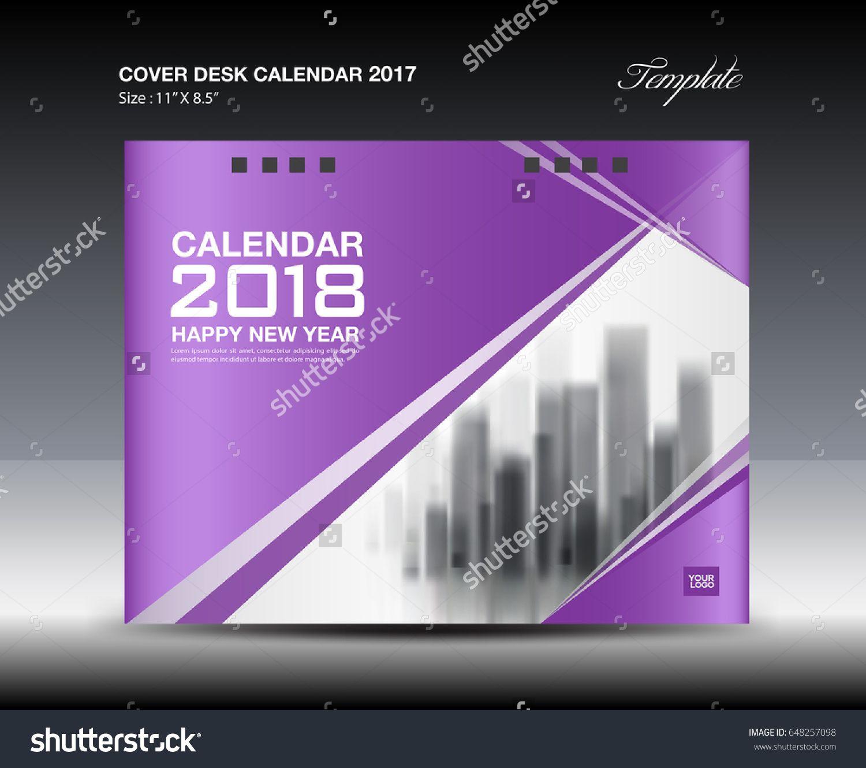 2018 desk calendar template