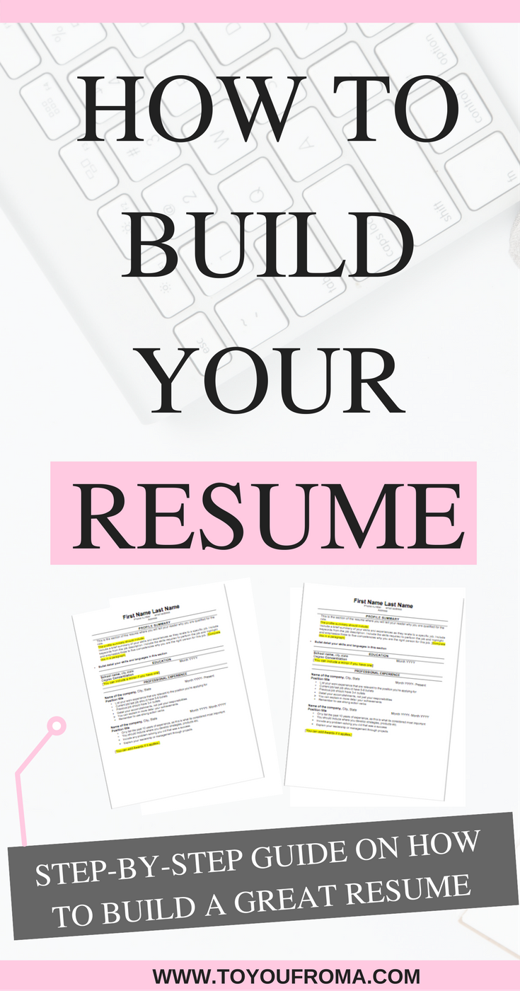 steps to do a resumes