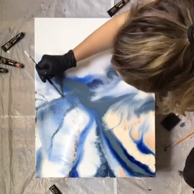 Photo of Acrylic Pouring Art
