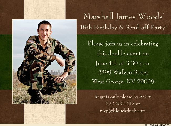 military send off parties – Send Party Invitations