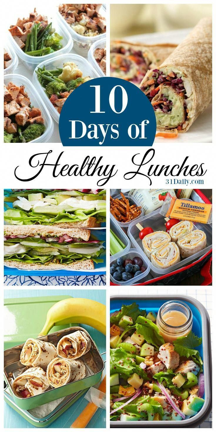 10 Days of Healthy Lunch Ideas for Work and School images