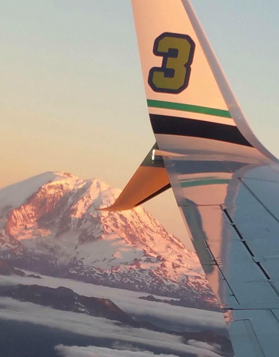 Russell Wilson's 3, Mt. Rainier & Alaska Airlines