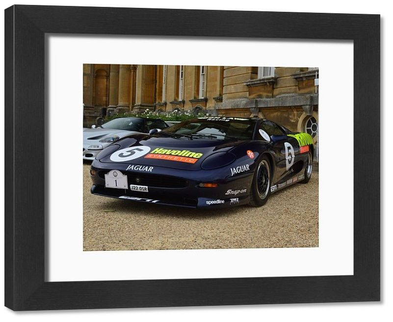 33x28 cm frame with high quality print. Jaguar XJ220, Don Law Racing, Salon Prive, Blenheim Palace, Woodstock, Oxfordshire, England, September 2020. vehicle, england, transport, uk, great britain, outside, united kingdom, automobile, show, racing, event, oxfordshire, heritage, gb, luxury, meeting, iconic, motorsport, elegance, unesco world heritage site, british isles, woodstock, prestigious, sleek, blenheim palace, motor show, hypercar, high performance, concours d elegance, salon prive, concou