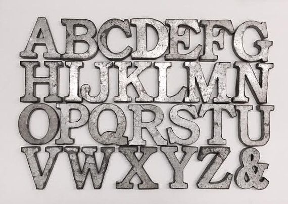 Metal Wall Letters For Nursery Metal Letterswall Decorgalvanized Metal Letterswall Letters