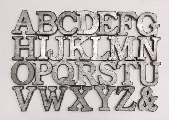 Metal Wall Letters For Nursery Metal Letterswall Decorgalvanized Metal Letterswall Letters