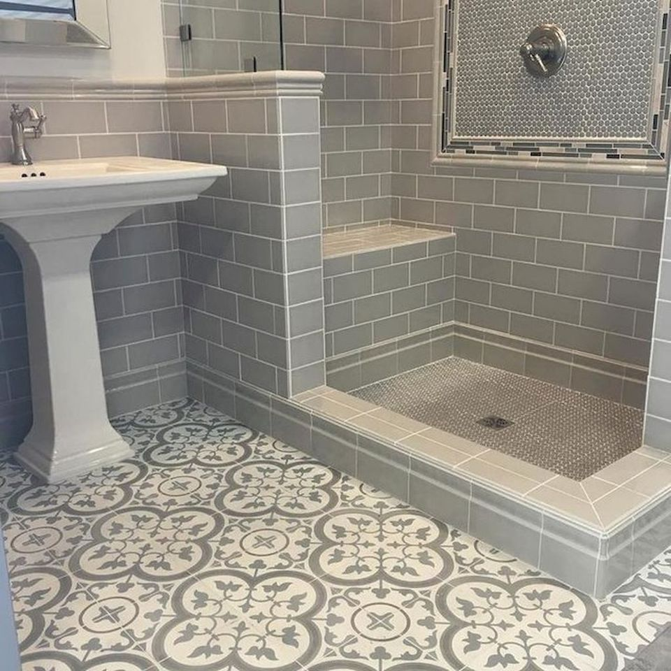 60 Inspiring Classic And Vintage Bathroom Tile Design Bathroom