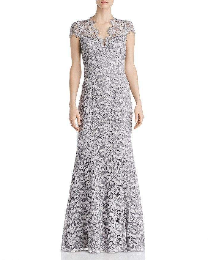 Eliza J Floral Lace Gown - Mist