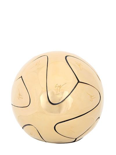 LUISAVIAROMA | Guiseppe Zanotti | custom Adidas Brazuca World Cup Balls for Gol de Letra Foundation