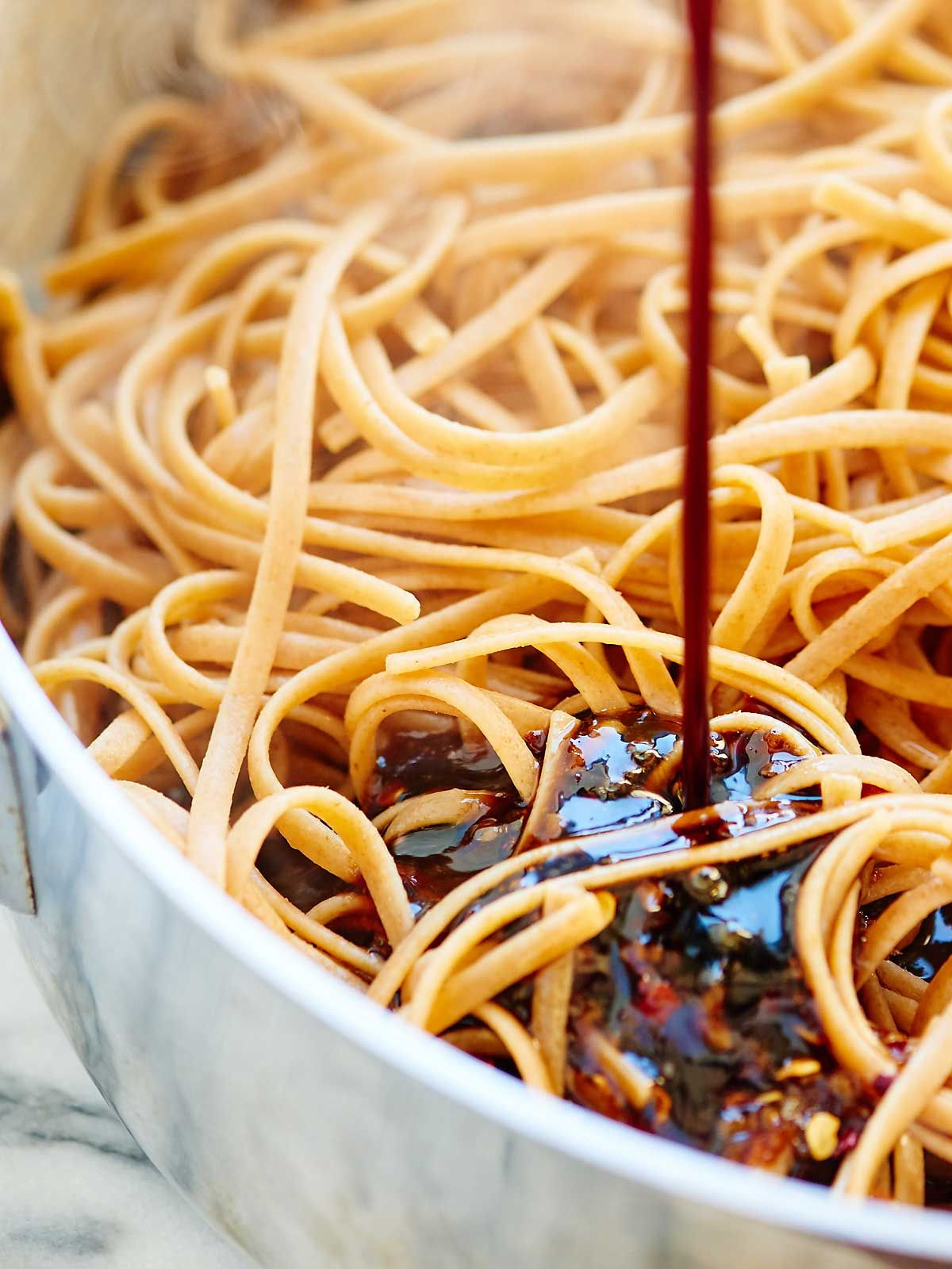 easy asian noodles  recipe  whole wheat pasta asian