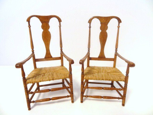 Country Queen Anne Armchairs