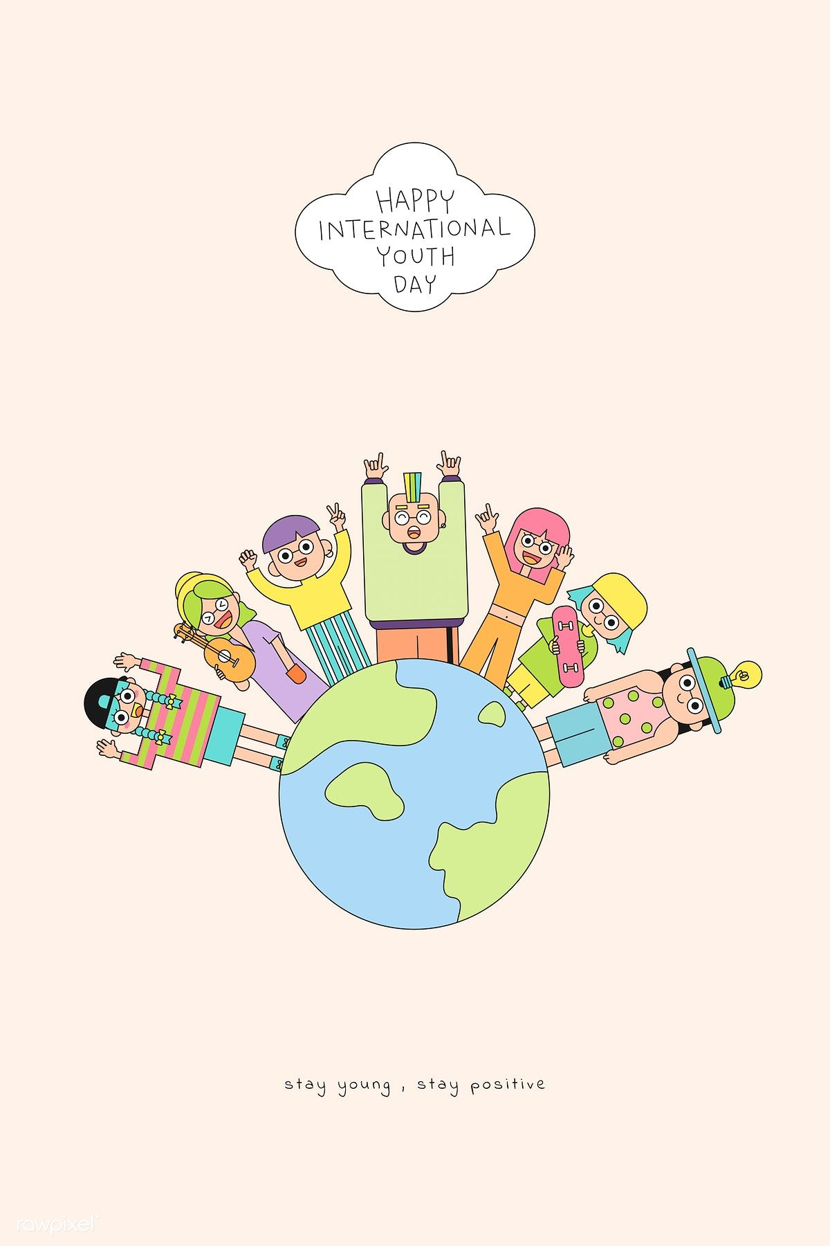 Download Premium Vector Of Happy International Youth Day
