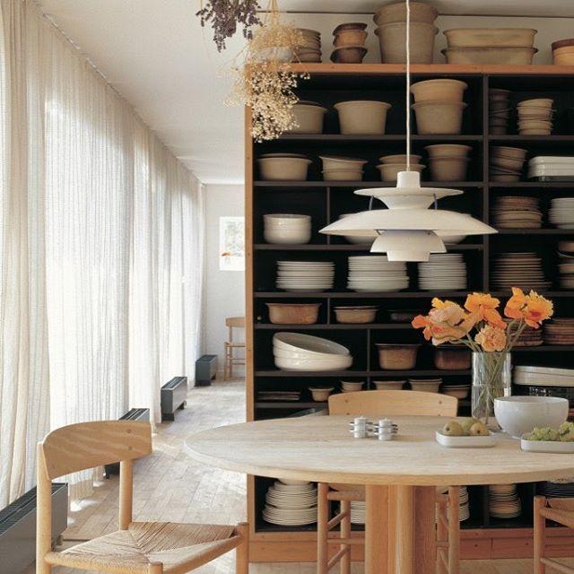 The home of ceramicist Grethe Meyer, showcases her own designs as - küchen modern design