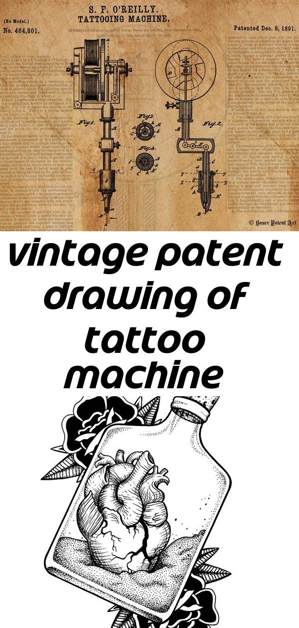 Vintage patent drawing of tattoo machine canvas print 7