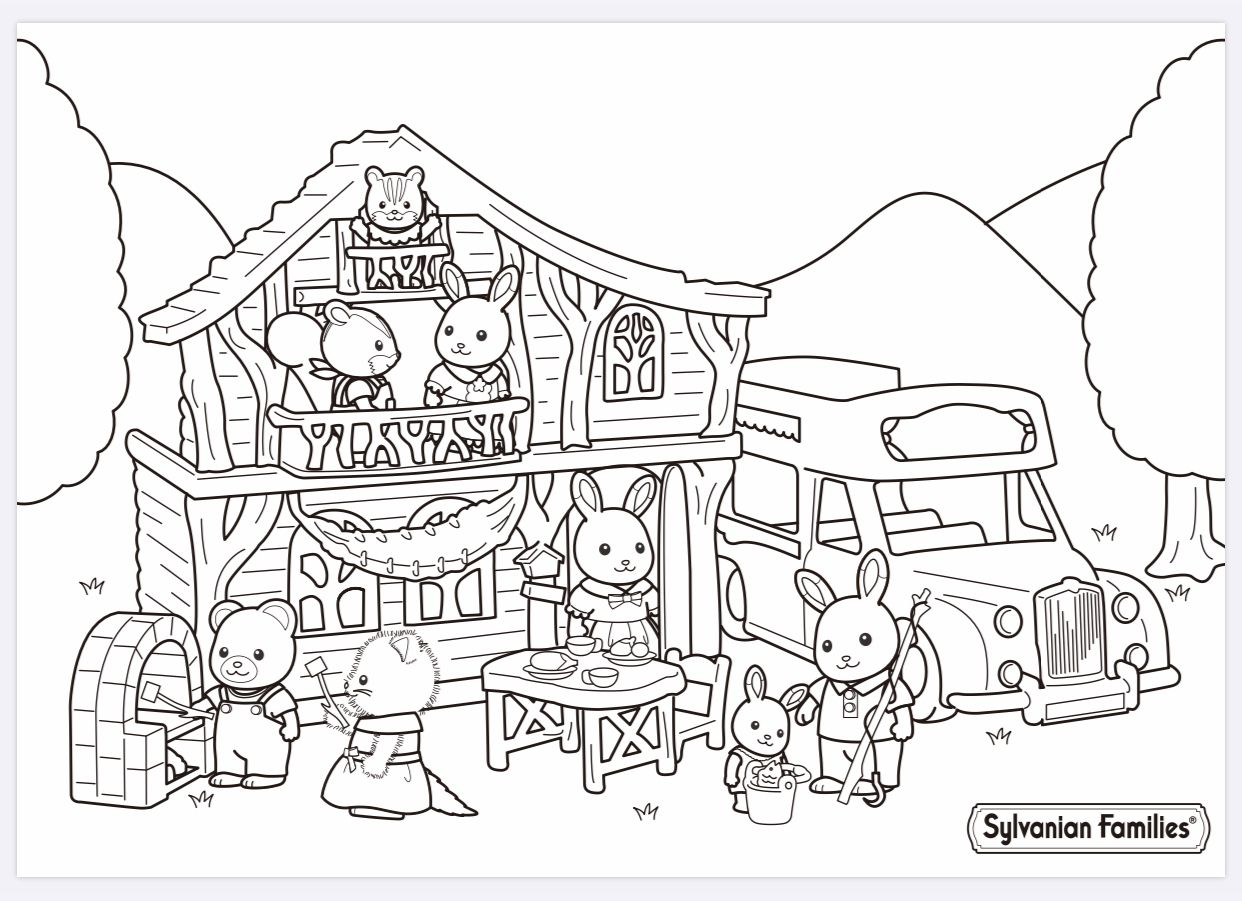 Pin by Nicole Poh on Sylvanian Families coloring pages ...