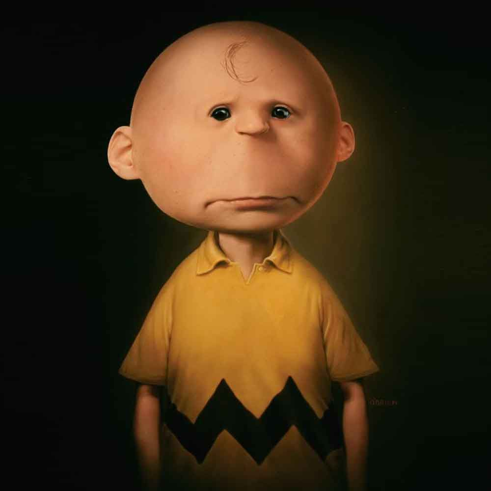 photoshopped charlie brown top 10 untooned cartoon characters
