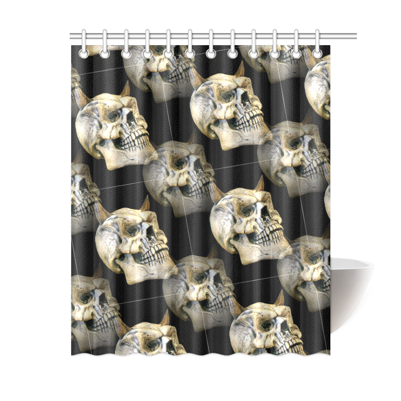 Gothic Skulls By Martina Webster Shower Curtain ...
