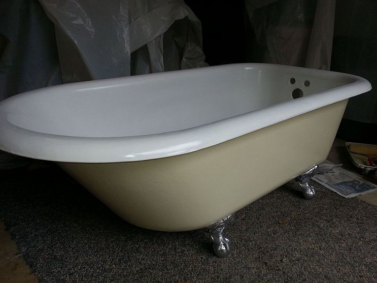 1915 Richmond Claw Foot Tub Refurbishing Clawfoot Tub Aqua
