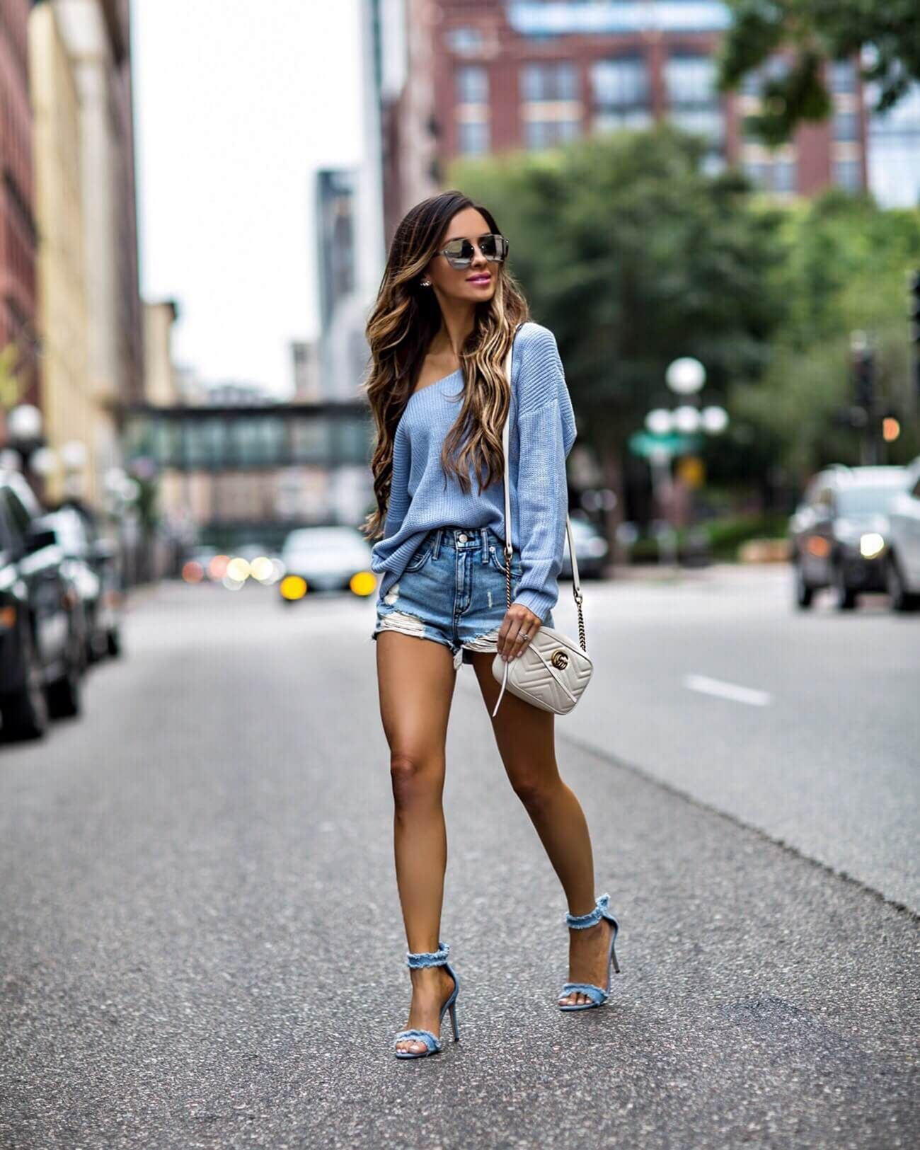 10 Beautiful Shorts with High Heels Ideas That Will Make Your Style More Fashionable