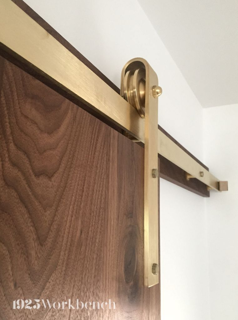Exceptionnel Introducing Our Newest Barn Door Hardware, Solid Brass. This One Here Is On  The Solid Walnut Door. Made In Toronto
