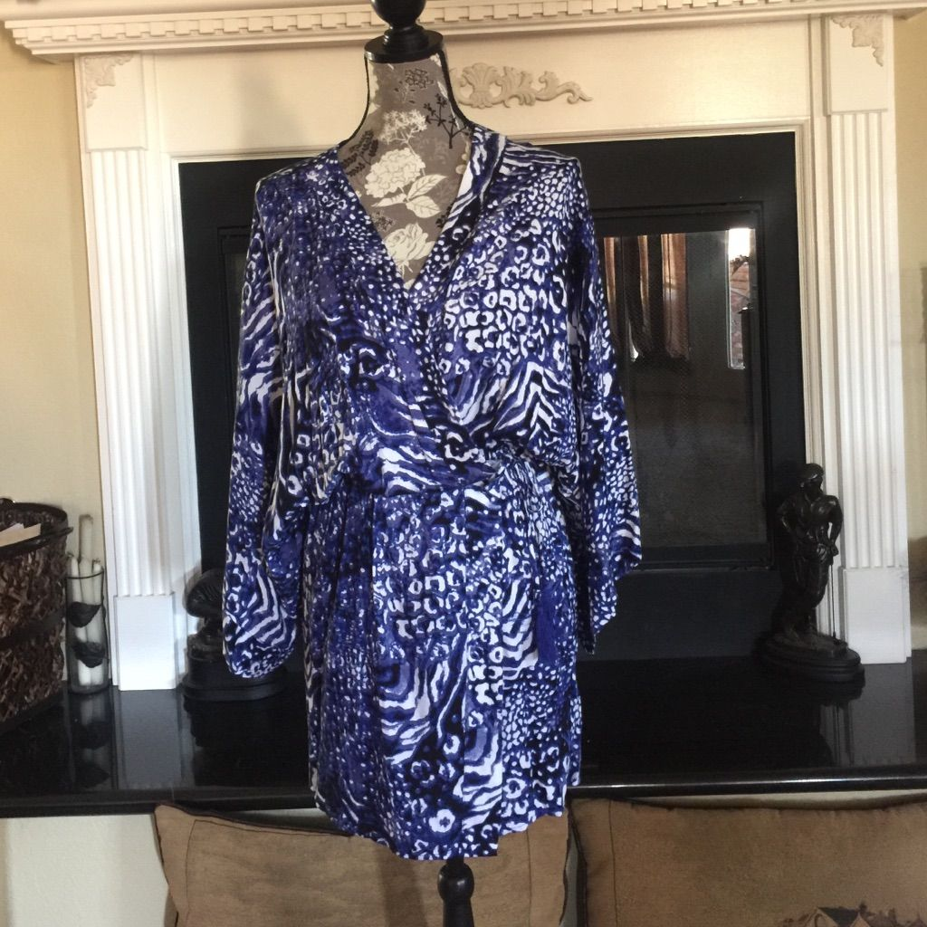 Beautiful Wrap Dress With Tassel Ties
