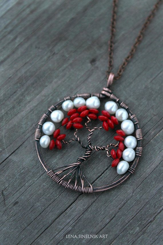 Tree Of Life Necklace Copper pendant Wire by LenaSinelnikArt | Wire ...