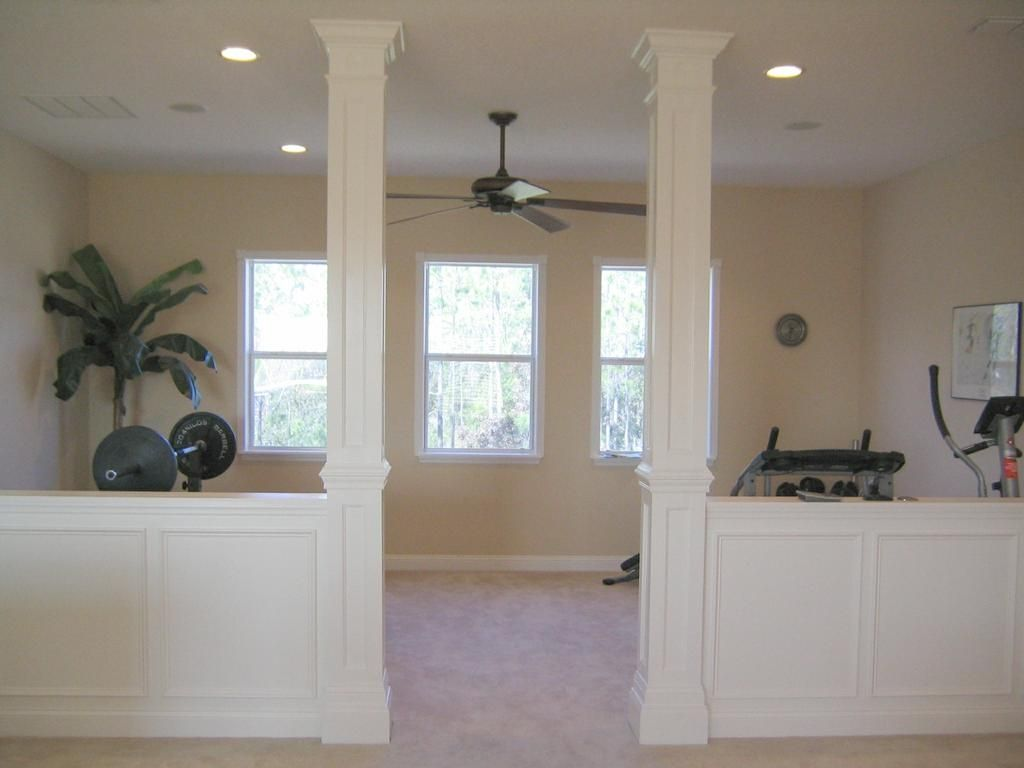 Column Molding Ideas Half Wall And Columns Absolutely Love This Interior Design