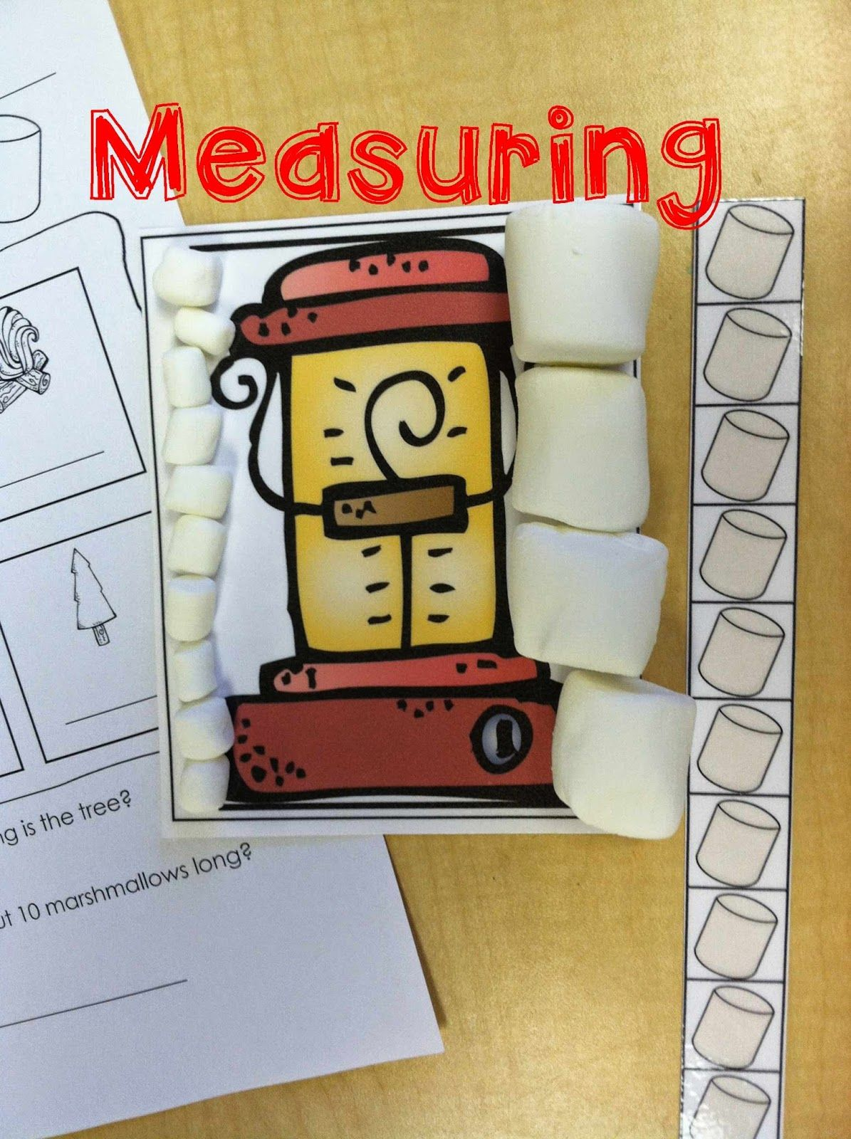 Camping Math Stations Nonstandard Measuring With Marshmallows