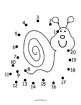 Printable Snail Dot To Dot Puzzle Dot Worksheets Tracing Worksheets Preschool Math Activities Preschool