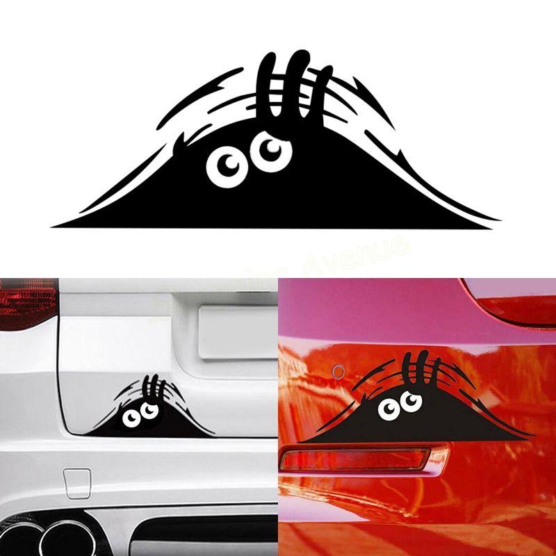 20*8cm Funny Peeking Monster Auto Car Walls Windows Sticker Graphic ...