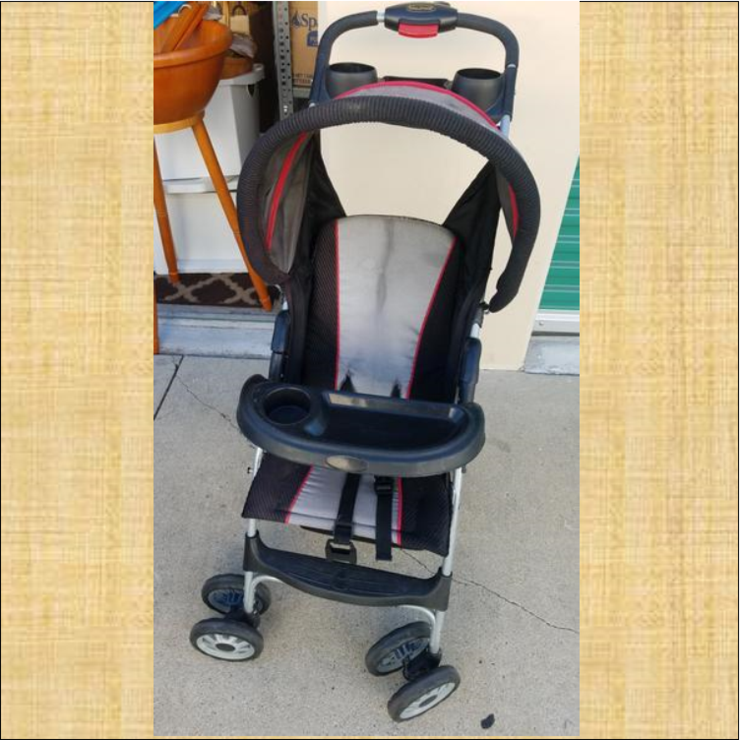 Baby Trend Gray & Black Stroller w/ Red Trim Baby trend