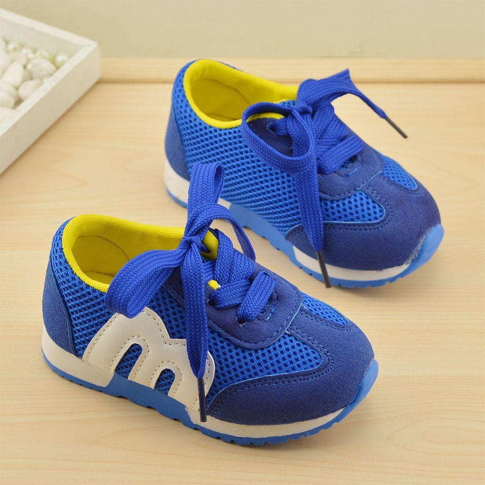 Sepatu Anak-anak Gadis Anak Laki-laki baru Sepatu Olahraga Antislip Bawah  Lembut Anak-anak Fashion Sneaker Nyaman Bernapas Mesh (Bayi Sedikit Kid) cf460f8124