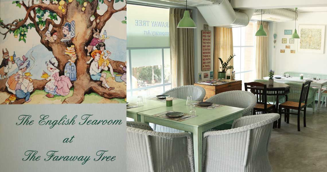 Escape The Heat Into The English Tea Room at The Faraway Tree