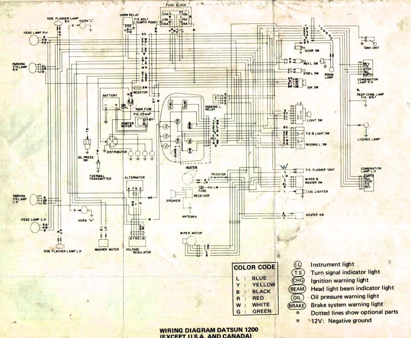 Wiring diagram for nissan 1400 bakkie #8   nissan   Nissan