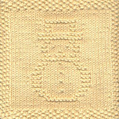 Knitted Washcloth Patterns Snowman Knit Dishcloth Pattern 1 79