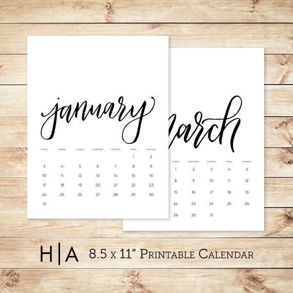 Diy Calendar Nz : Large printable calendar hand