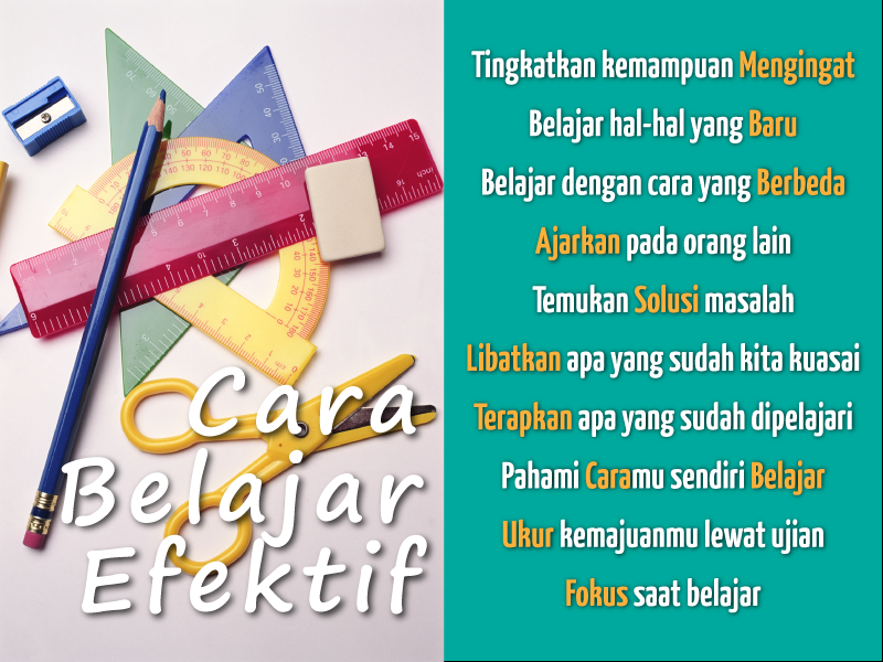 Cara Belajar Efektif Infographic Belajar Pendidikan Peringatan