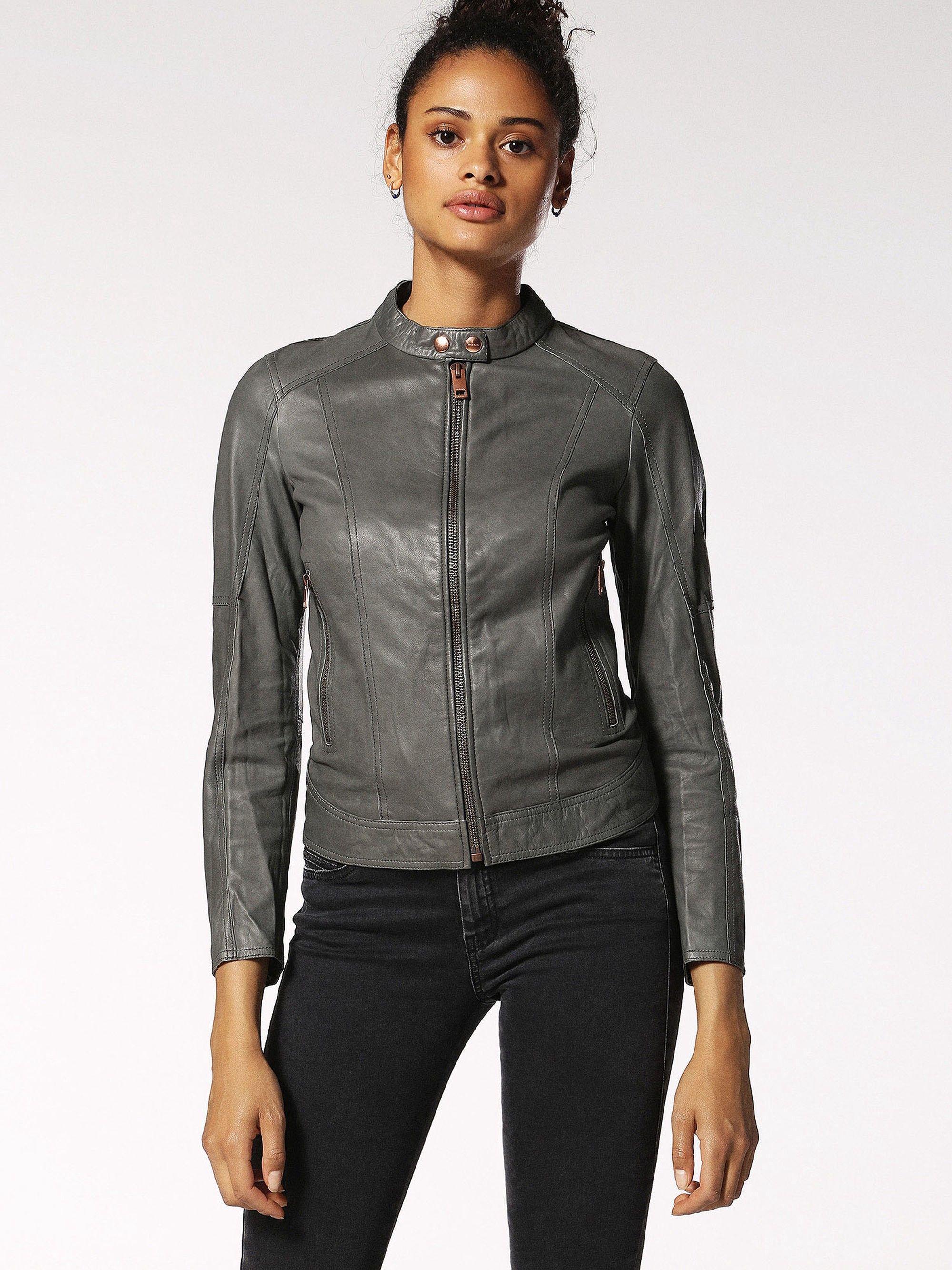 Diesel L Lory C Leather Jackets Diesel Cloth Jackets Jackets For Women Diesel Fashion [ 2667 x 2000 Pixel ]