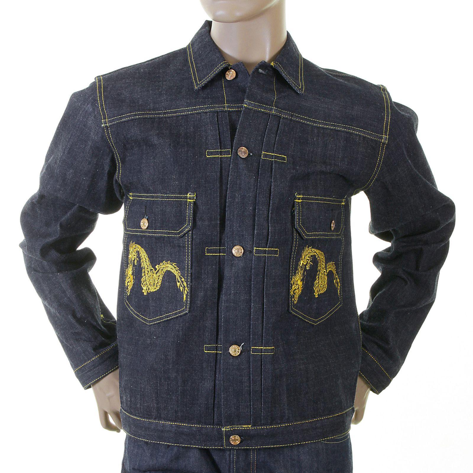 Shop For The Non Wash Mens Indigo Denim Jacket By Evisu Indigo Denim Jacket Jackets Denim [ 1600 x 1600 Pixel ]